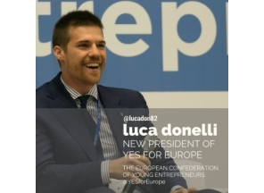 Luca Donelli elected Yes for Europe President