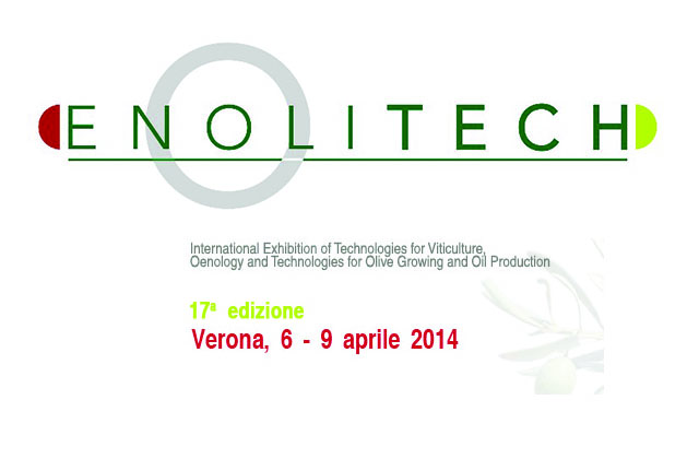 Enolitech 2014 at Vinitaly - Verona, 6-9 April 2014