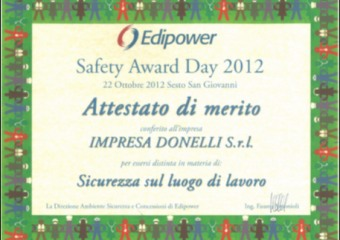 Edipower Safety Award Day 2012