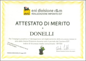ENI r&m division - Safety award 2013